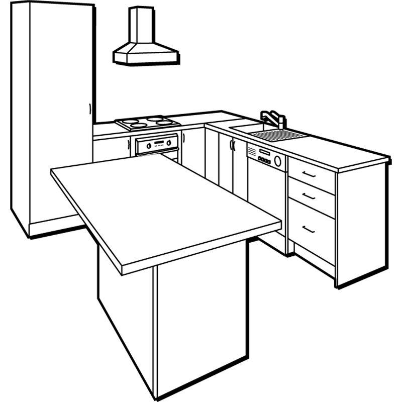 kaboodle l shape kitchen with island sku02662245a kitchen in 2019 l shaped kitchen on kaboodle kitchen layout id=37045