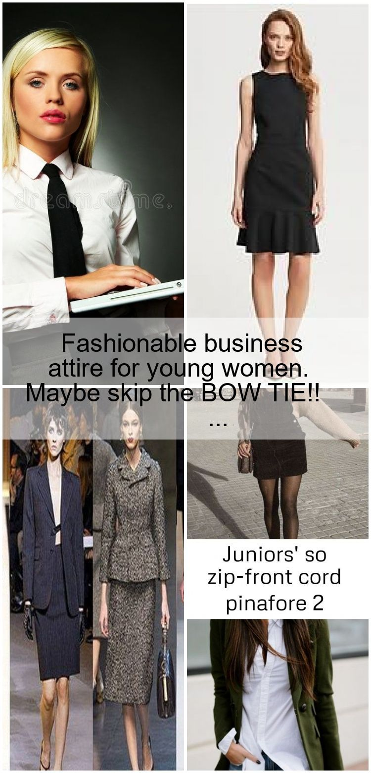 Fashionable business attire for young women. Maybe skip the BOW TIE!! #businessa... #businessattireforyoungwomen Fashionable business attire for young women. Maybe skip the BOW TIE!! #businessa... ,  #attire #BOW #business #businessa #fashionable #maybe #skip #Tie #women #young #businessattireforyoungwomen