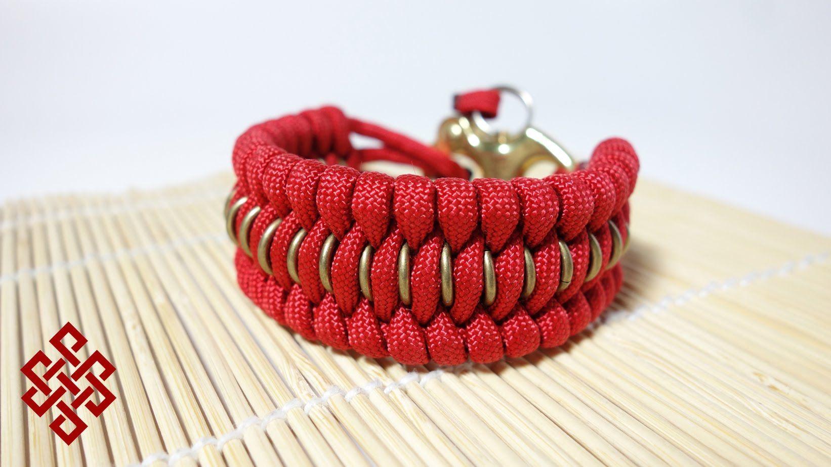 Chain Mail Trilobite Paracord Bracelet Tutorial Uses 15 Gauge