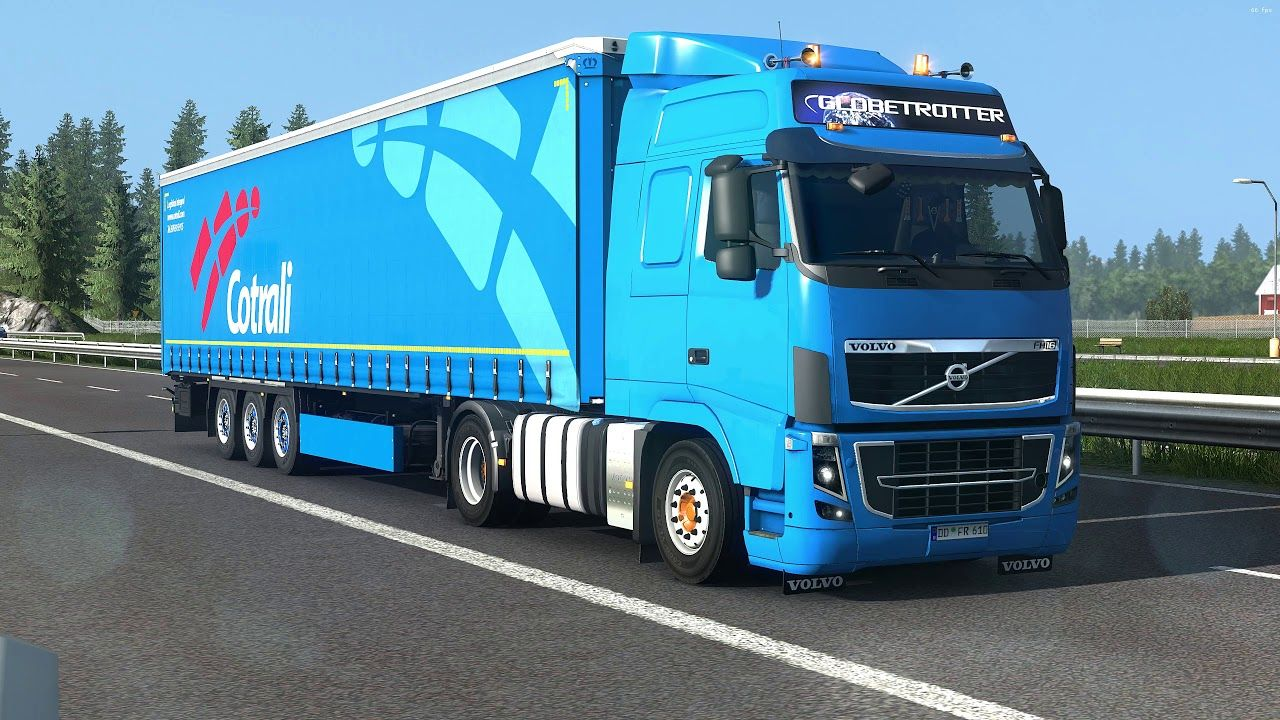 Ets2 1 36 Euro Truck Simulator 2 Naturalux Volvo Fh Cursa In Nor Volvo Trucks Weather Projects