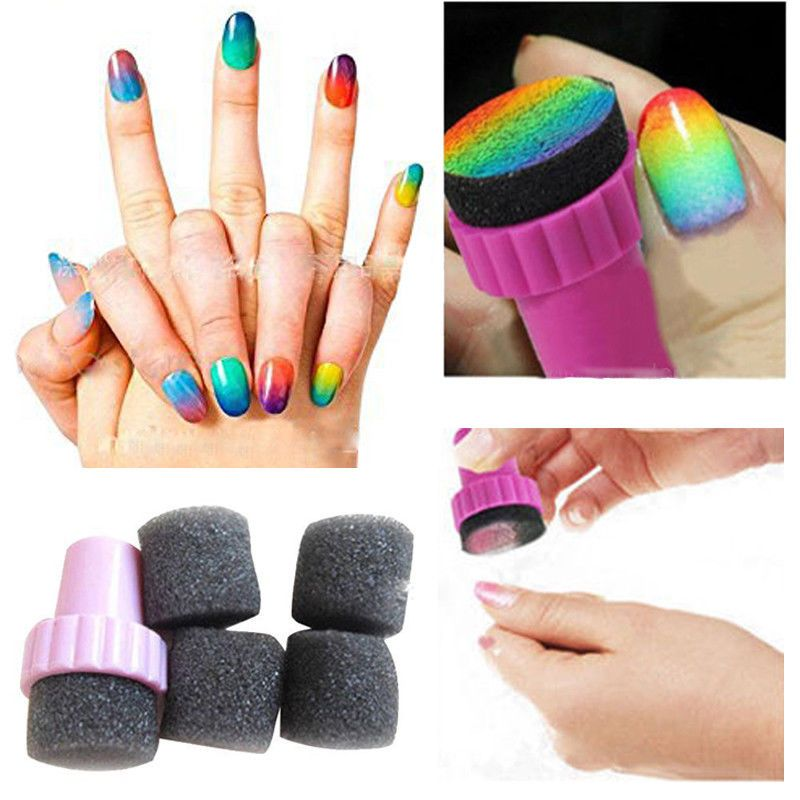 0.99 GBP - Hot Women\'s Stamping Sponges Kit Ombre Nails Magic Nail ...