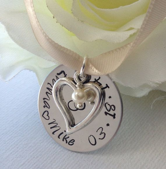 Bridal Bouquet Charm Personalized Wedding by littleangelsboutique