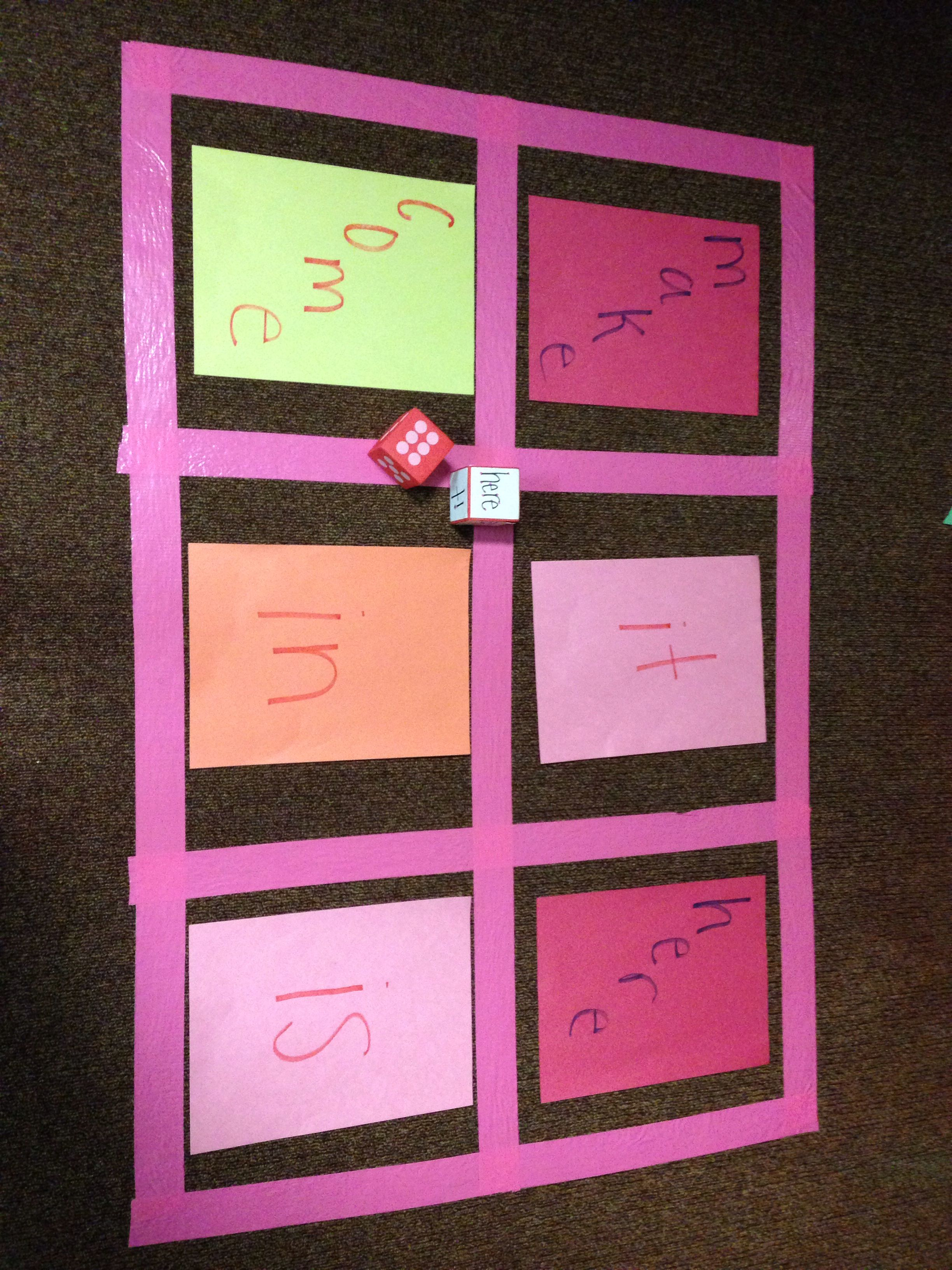 Sight Word Fun Roll The One Is For The Word You