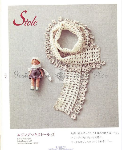 Ivelise Feito à Mão: Cachecol Delicado Em Crochê!
