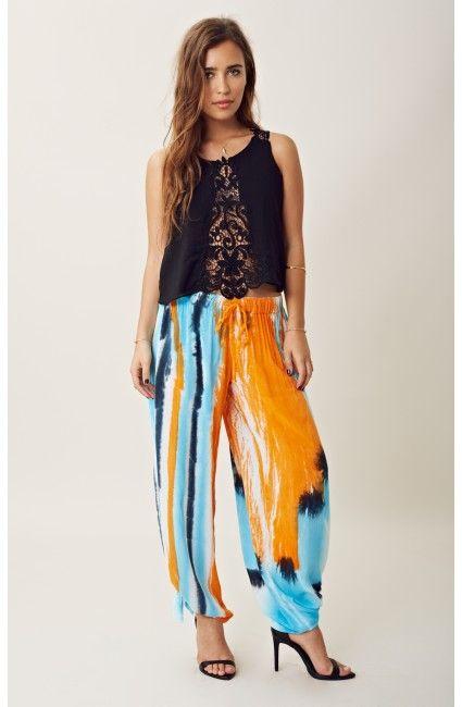 blu moon | tie dye beach pants