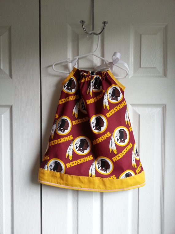 93e349ee NFL Washington Redskins Pillowcase Dress with by RompersAndRibbons ...