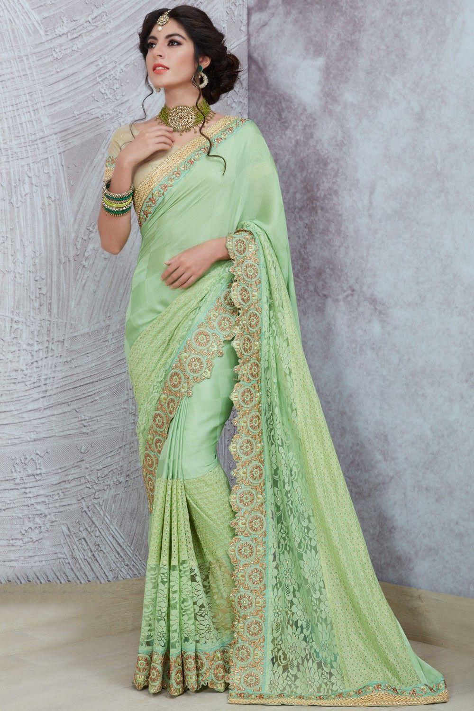 Multi Color Half and Half Bollywood Saree Indian Ethnic Wedding Designer Sari