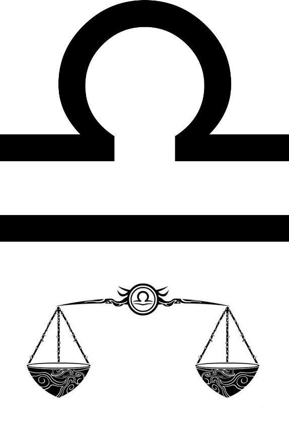Simple Libra Zodiac Sign Tattoo Designs Tattoos Pinterest