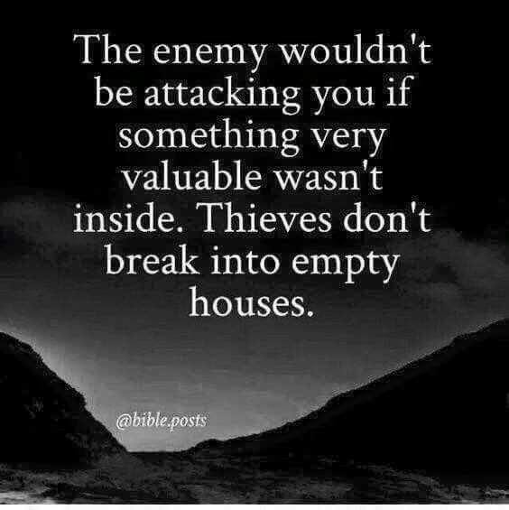 The Enemy Wouldn T Be Attacking You If Something Very Valuable Wasn T Inside Thieves Don T Break Into Empty Hous Integrity Quotes Karma Quotes Quotable Quotes