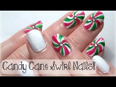 How To Candy Cane Swirl Nails A Christmas Nail Art Tutorial