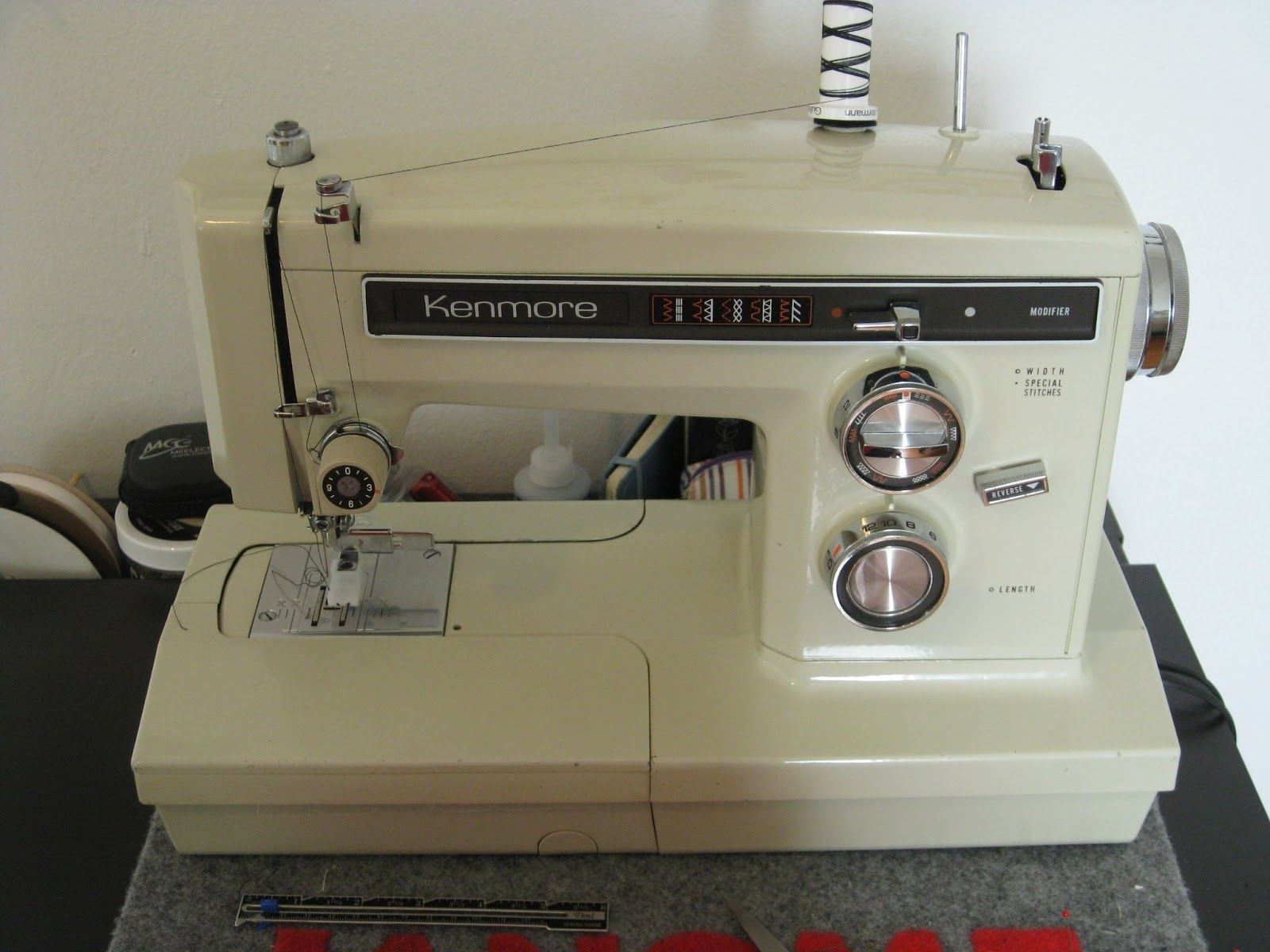 I would love my Nana's  Kenmore sewing machine serviced and repaired so I could use it to sew with.