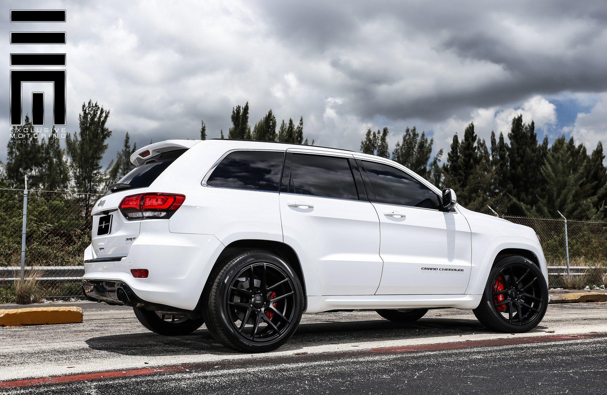 Jeep Grand Cherokee Srt On Black Custom Wheels By Exclusive