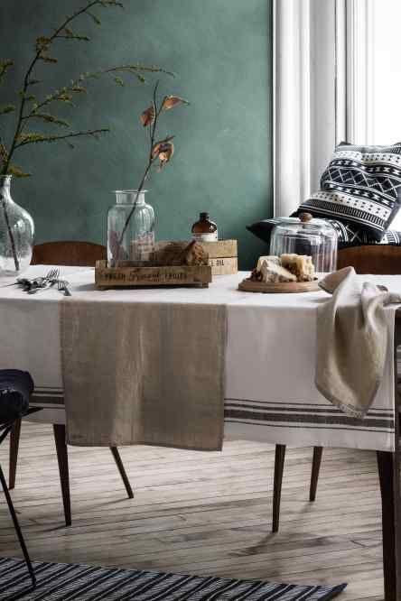 Jacquardgeweven kussenhoes huisdecoratie sala da for Colori per pareti sala da pranzo