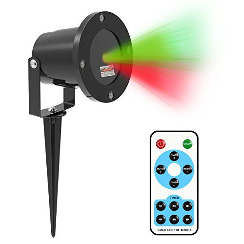 Outdoor Décor-Star Patterns Laser Lights Shower iHousekeeper Laser Christmas Lights Outdoor Projector With RF Remote For House Christmas Decoration -- You can get additional details at the image link.