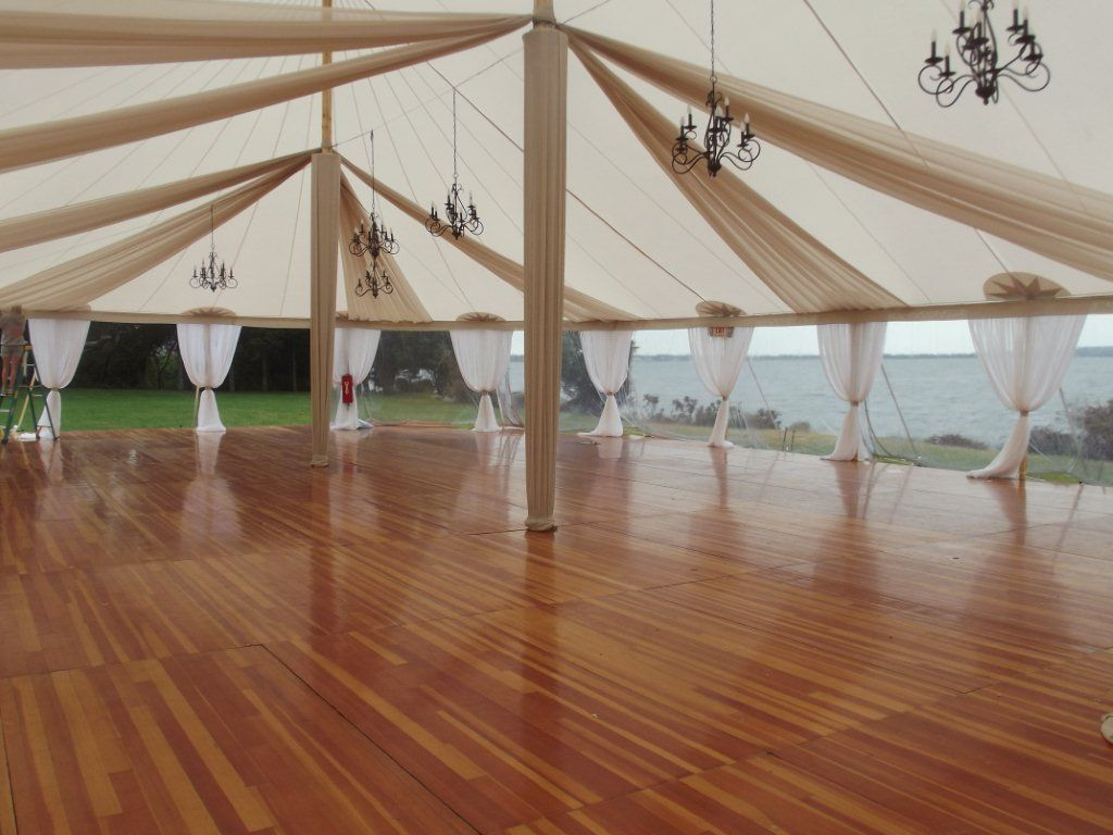 Full Floor Under A Tidewater Tent & Subtle fabric treatment | Wedding | Pinterest | Tents Casual ...