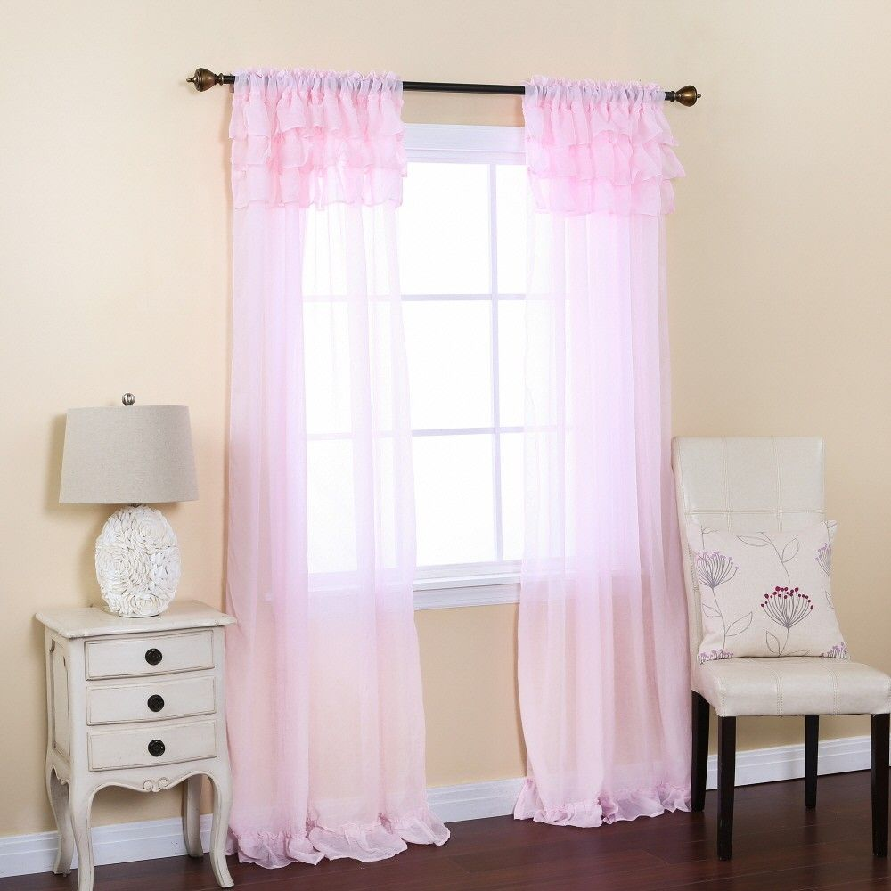 Chiffon Curtains With Ruffles  So Dreamy !
