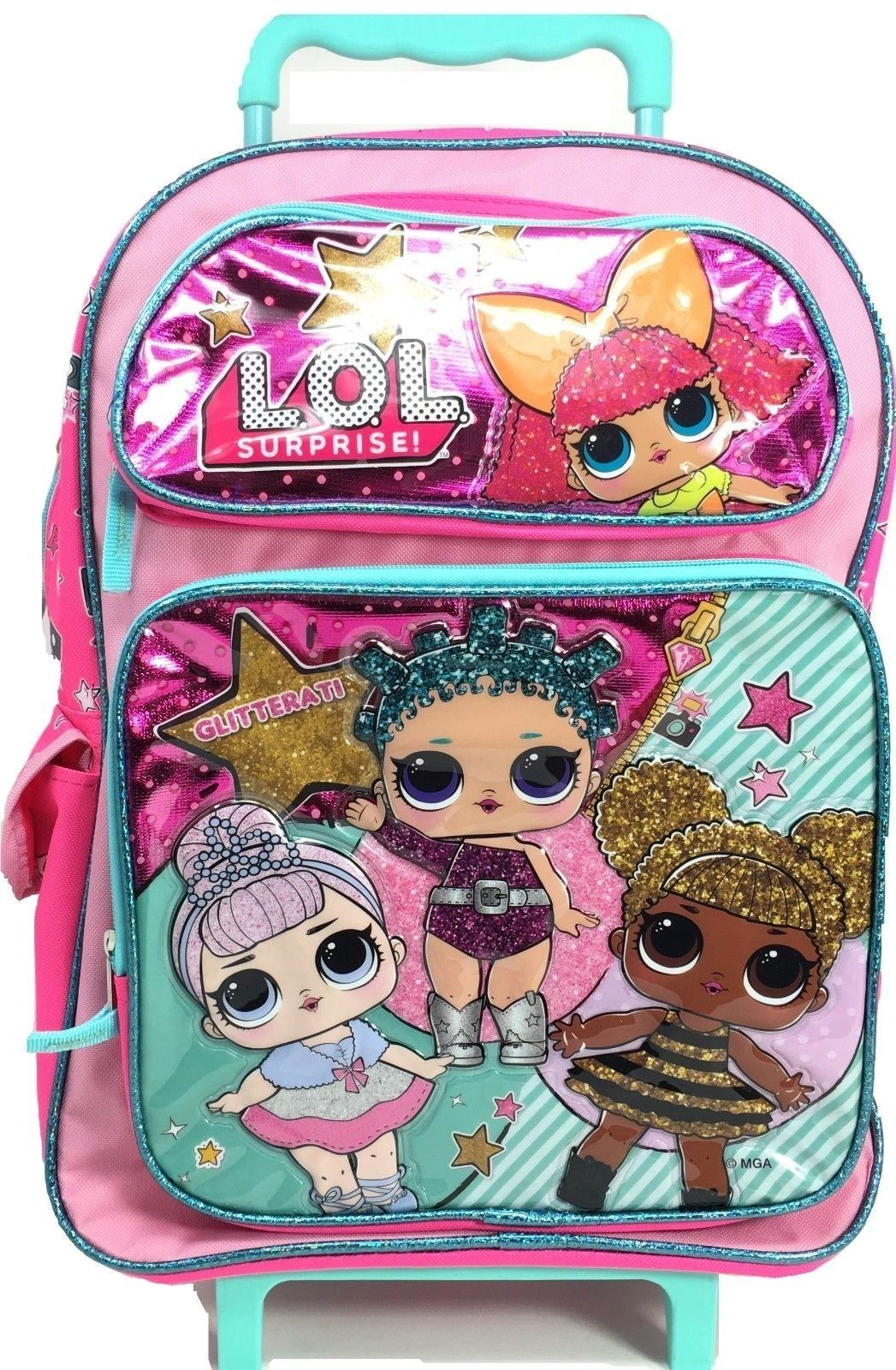 2a6cd09b4d57 L.O.L Surprise! Large School Rolling Backpack 16