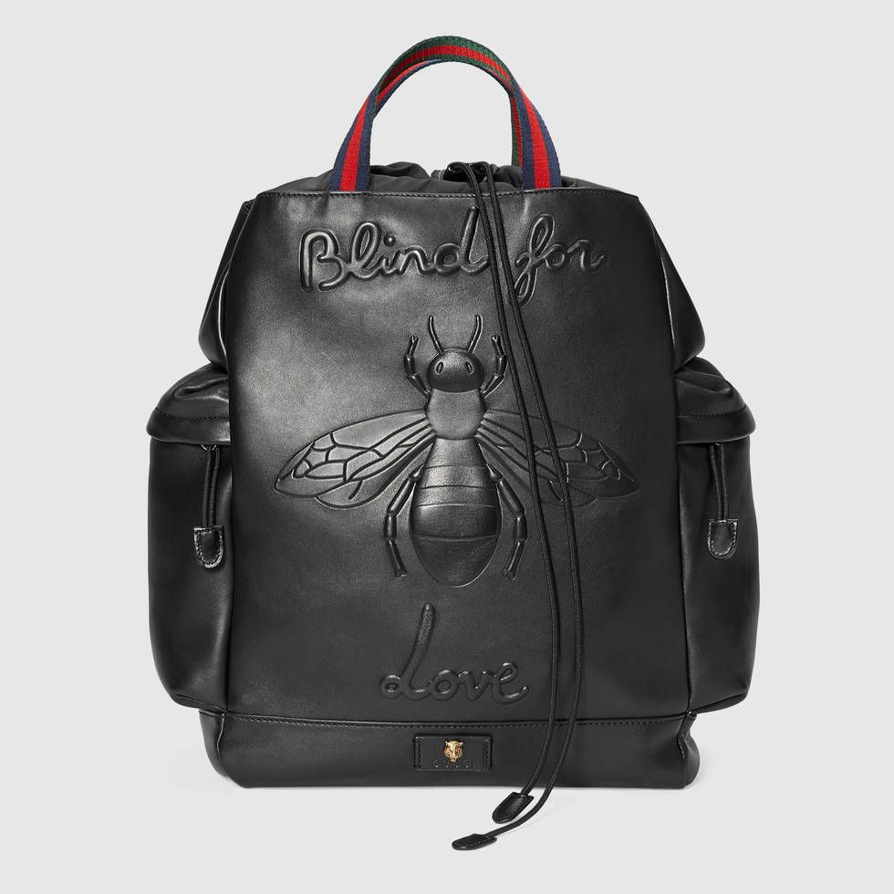 9b6c617a75b497 Bee embossed drawstring backpack | Gucci | Bag Laydee | Bags ...