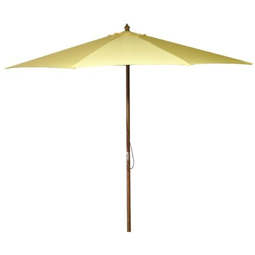 9-Foot Wood Frame Outdoor Patio Market Umbrella in Canary Yellow ...