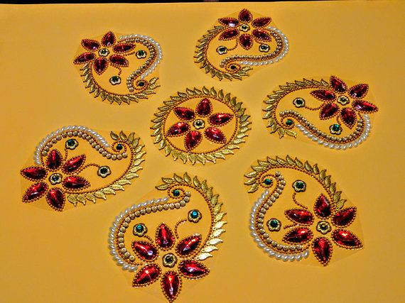 Kundan Rangoli Handmade & elegant Floor / Table / Wall decor ...