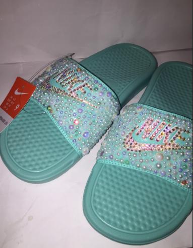 Custom Bling Nike Flip Flop Slides Benassi