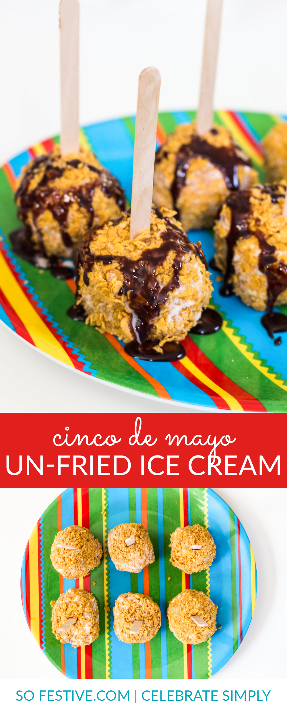 Mexican unfried ice cream on a stick recipe simple party food quick healthy cinco de mayo dessert idea un fried fried ice cream on forumfinder Choice Image