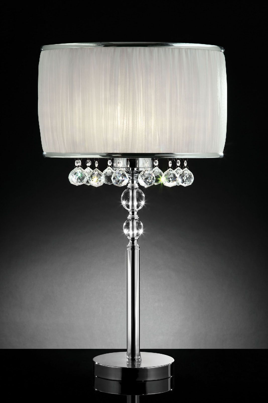 Helen L95139t Table Lamp Crystal Table Lamps Table Lamp Chrome Table Lamp