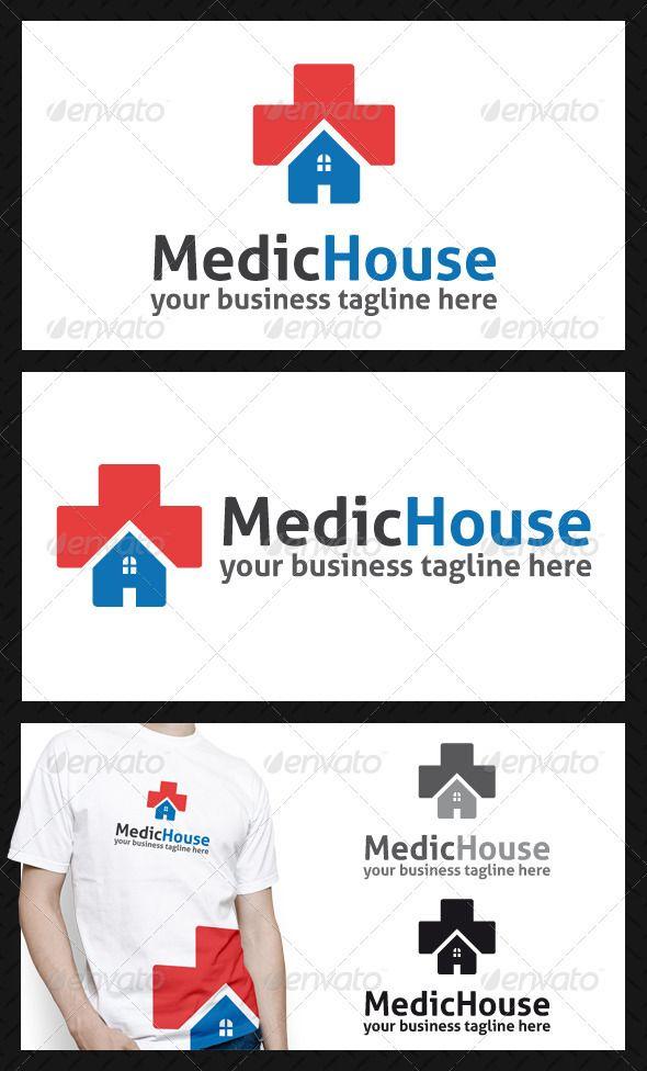 medic house logo template logo pinterest logos logo templates