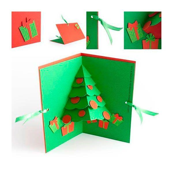 Tarjeta de navidad hecha a mano tarjetas navidad y - Tarjetas de navidad faciles ...
