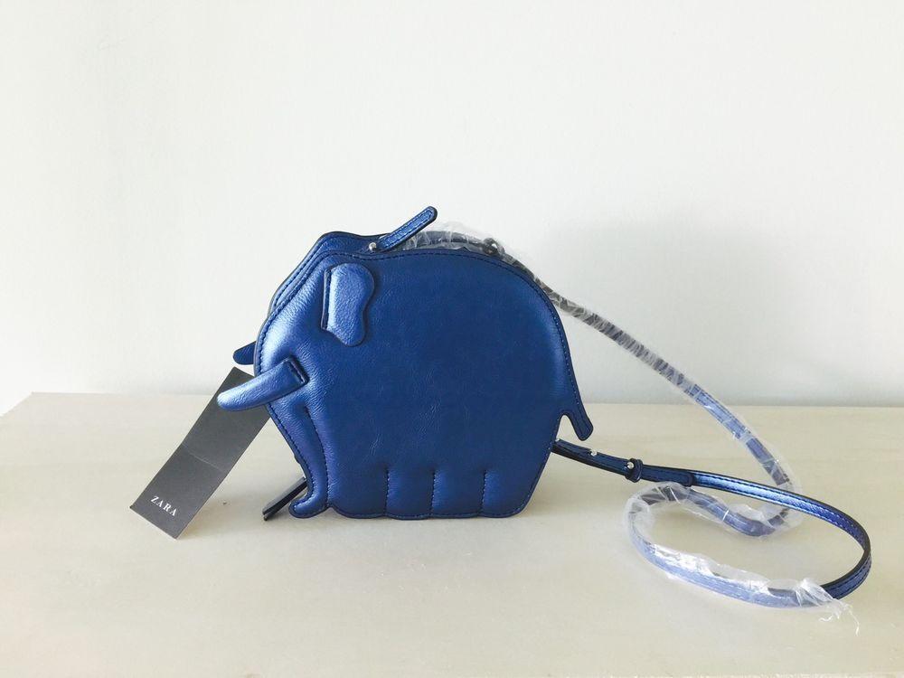 abfccce2195 *LAST ONE* Zara Animal-Shaped Cross Body Bag - Blue Elephant (Ref.  4316/204) | eBay