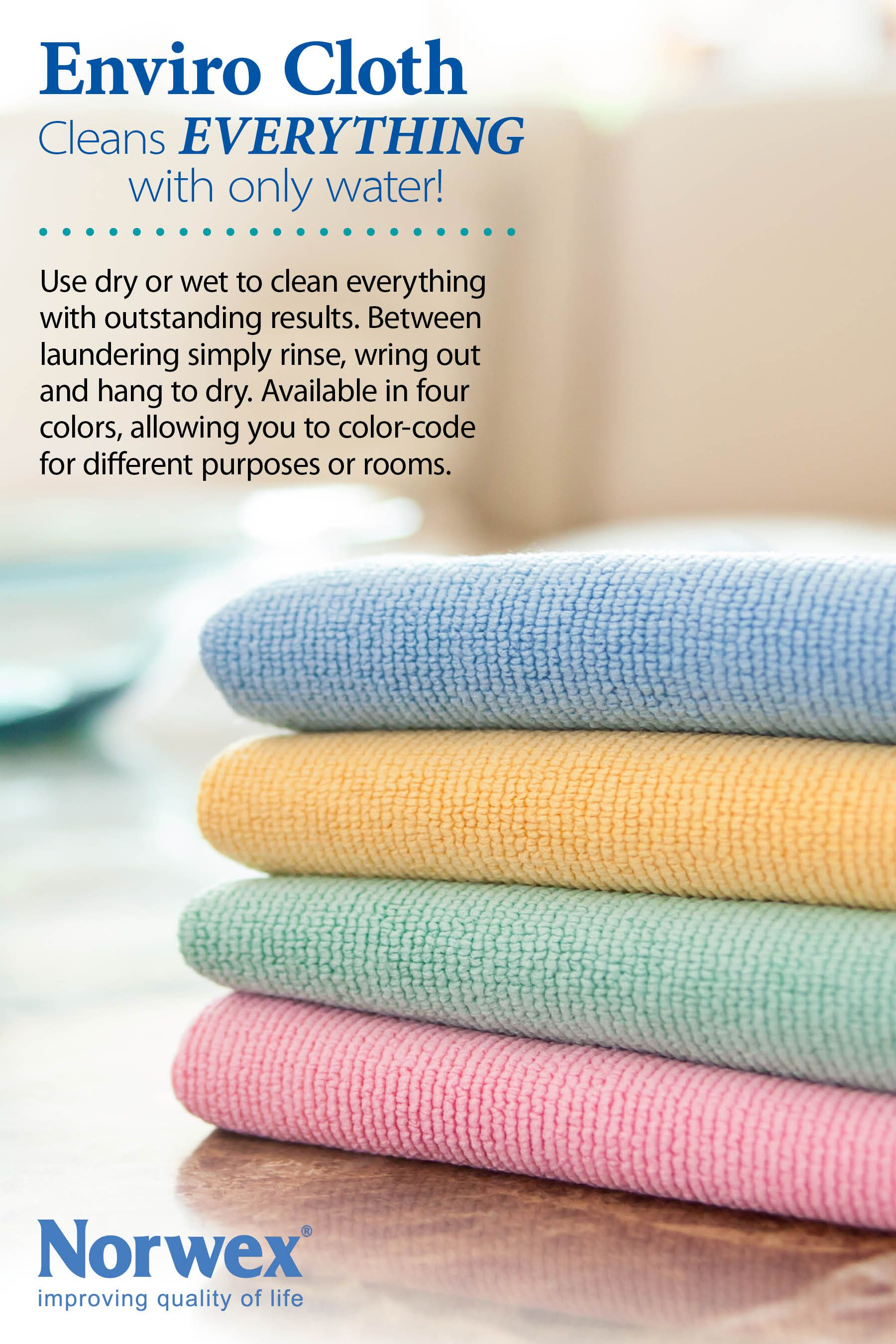 Norwex Enviro Cloth: Use dry or wet to clean everything ...