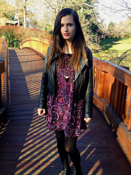 Frenchi Leather Jacket, Urban Outfitters Velvet Dress
