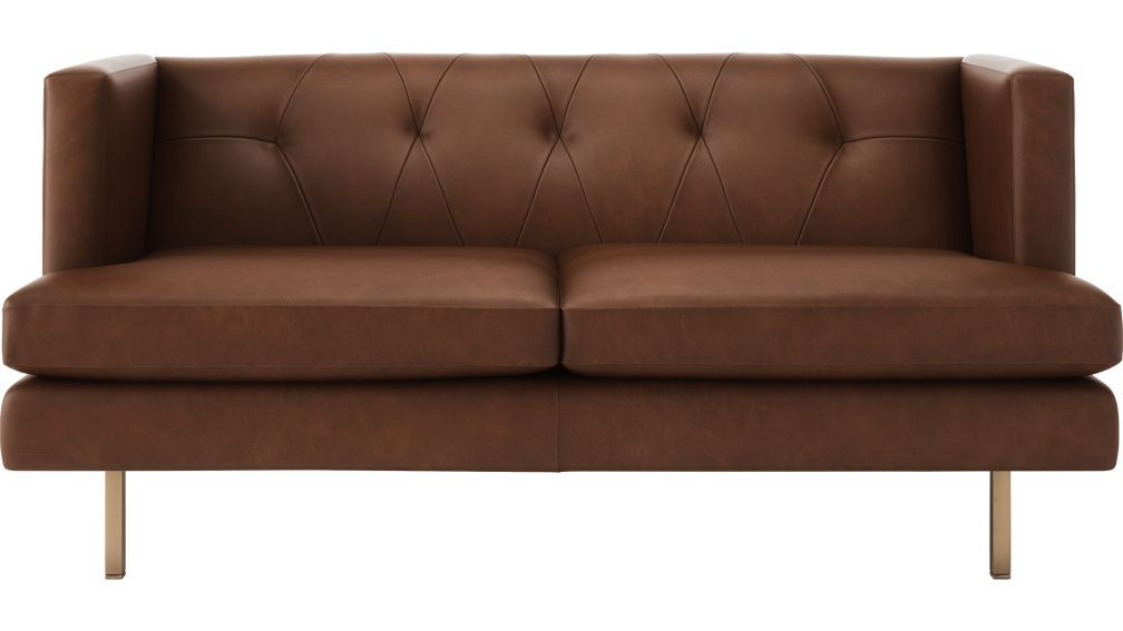 Avec Leather Apartment Sofa With Brass Legs Apartment Sofa Sofa