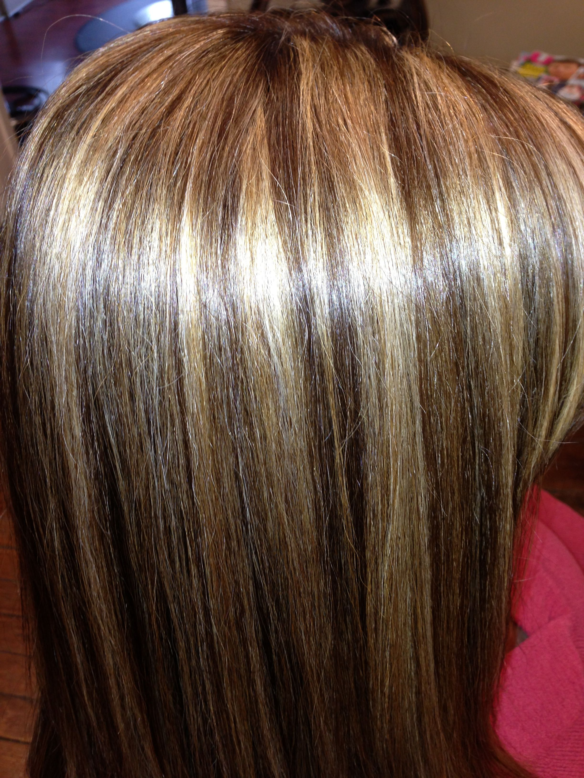 Brown hair with highlights!! Love this thanks Jessicca ...