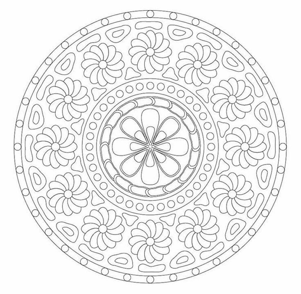 Mandala Da Colorare Difficili Coloring Pages Mandala Coloring