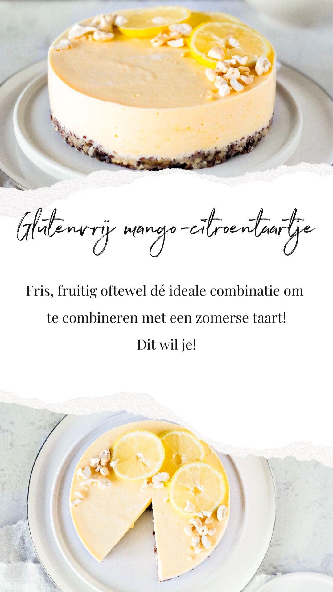 Glutenvrij mangocitroentaartje voor iedere dag! is part of Cake recipes - Een glutenvrij mangocitroentaartje om bij weg te dromen! Een wereldcombinatie, voedzaam, zomers én lactosevrij  Gezond genieten voor iedereen!