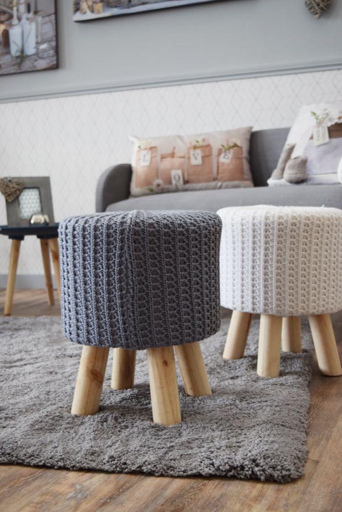 pouf maille salon scandinave pinterest salon scandinave salon et d co. Black Bedroom Furniture Sets. Home Design Ideas