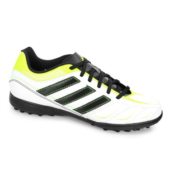 d0d9415c388 Chuteira Adidas Society Ezeiro III TRX TF - V24860 - Branco Preto Verde  Limão
