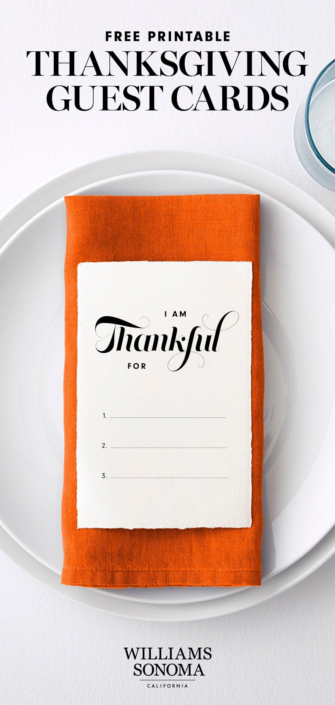 Free printable thanksgiving guest cards williams sonoma