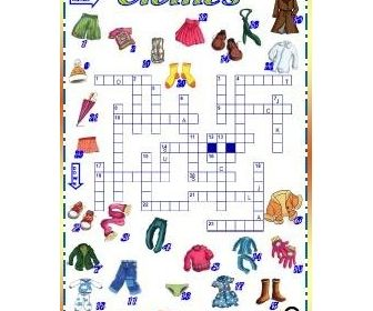 clothes picture crossword kleidung kleidung. Black Bedroom Furniture Sets. Home Design Ideas