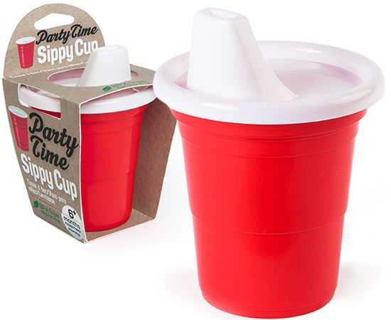 PARTY TIME - RED CUP SIPPY CUP