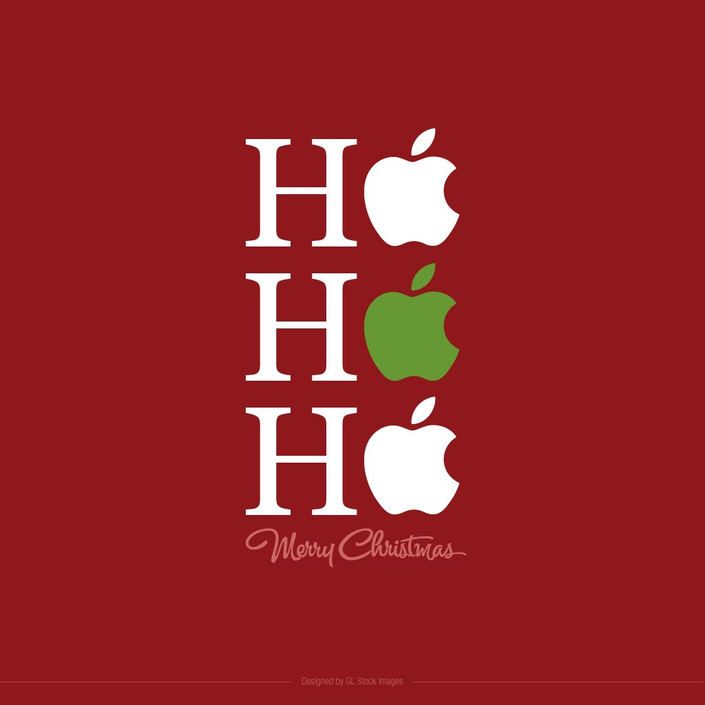 Apple Themed Christmas iPad Background | GL Stock Images Design ...
