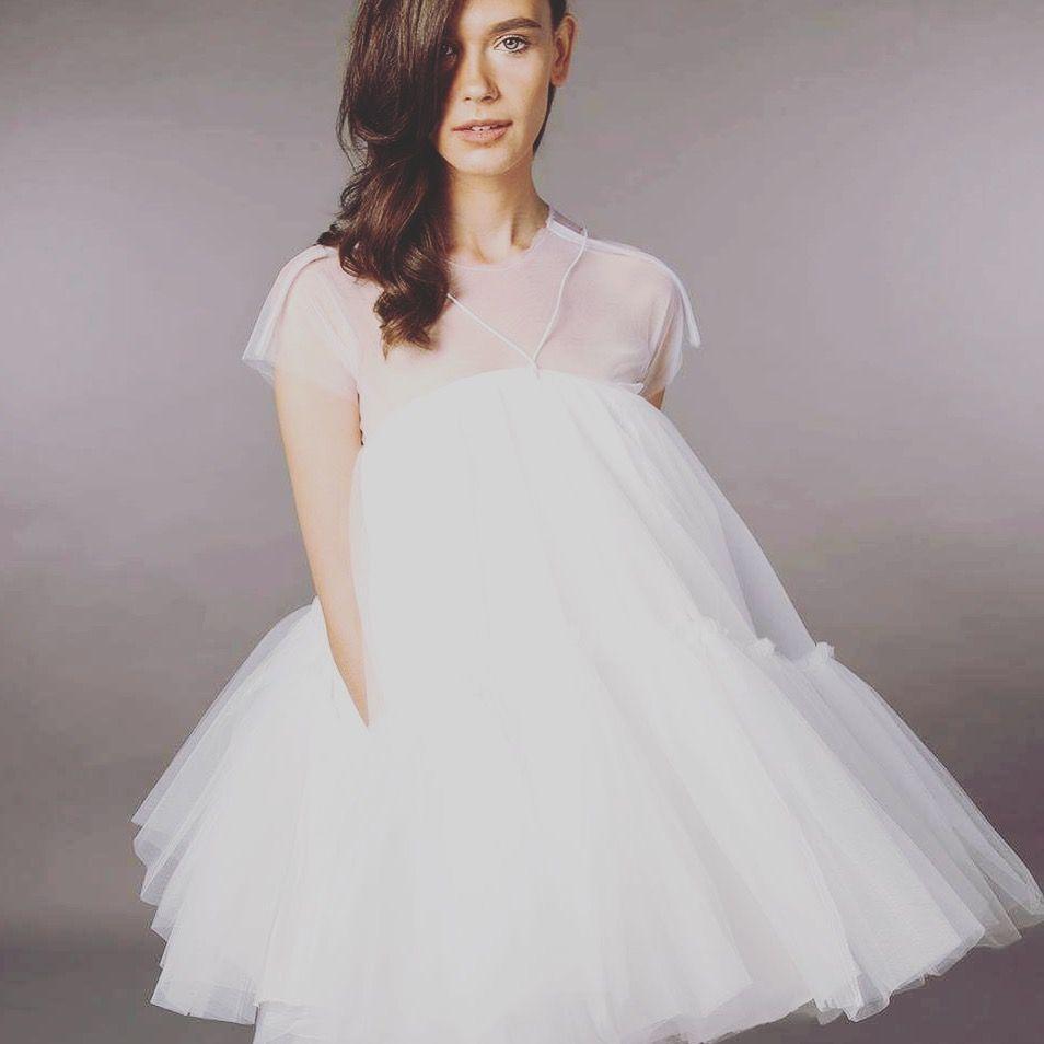 Wedding Dress Short Wedding Dress Tulle Wedding Dress Babydoll Dress Prom Dress Modern Brida Bridal Separates Short Wedding Dress Tulle Wedding Dress