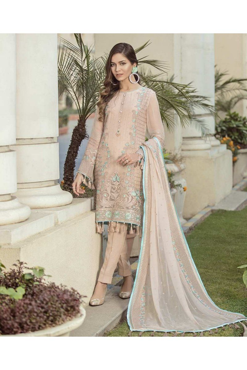 89d5d66b19 Flossie Vol-4 Chiffon Suits Collection Macadamia FC-02 #newarrivals  #suratwholsaler #