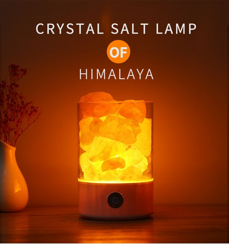 Himalayan Crystal Salt Lamp Multifunctional Negative Ion Air Purifier White Himalayan Crystal Salt Lamp Himalayan Salt Lamp Himalayan Salt Crystals