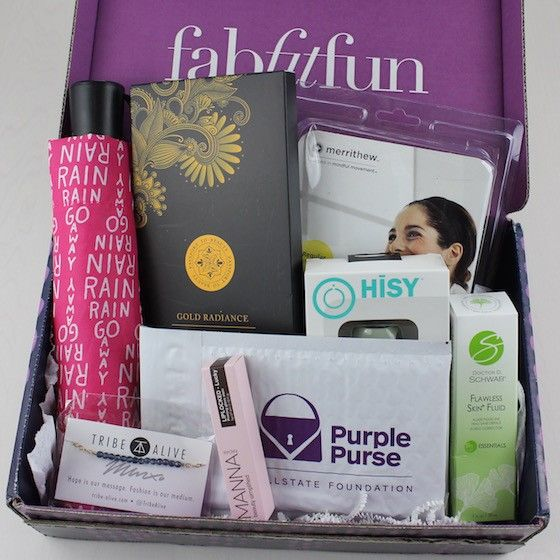 Fity Fab Fit: Fab Fit Fun Box, Subscription Boxes, Purple Purse