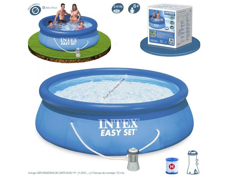 ¡Bienvenidos de nuevo amigos a Top-Piscinas! Entra y descubre todas las novedades del año 2015. Disfruta de un gran verano por muy poco dinero. ¡Consigue tu piscina desmontable y descubre cuál es tu descuento! http://www.top-piscinas.com/piscinas-de-pvc-piscinas-intex-easy-set/piscina-intex-easy-set-244x76-cm-con-depuradora-ref-56006.html