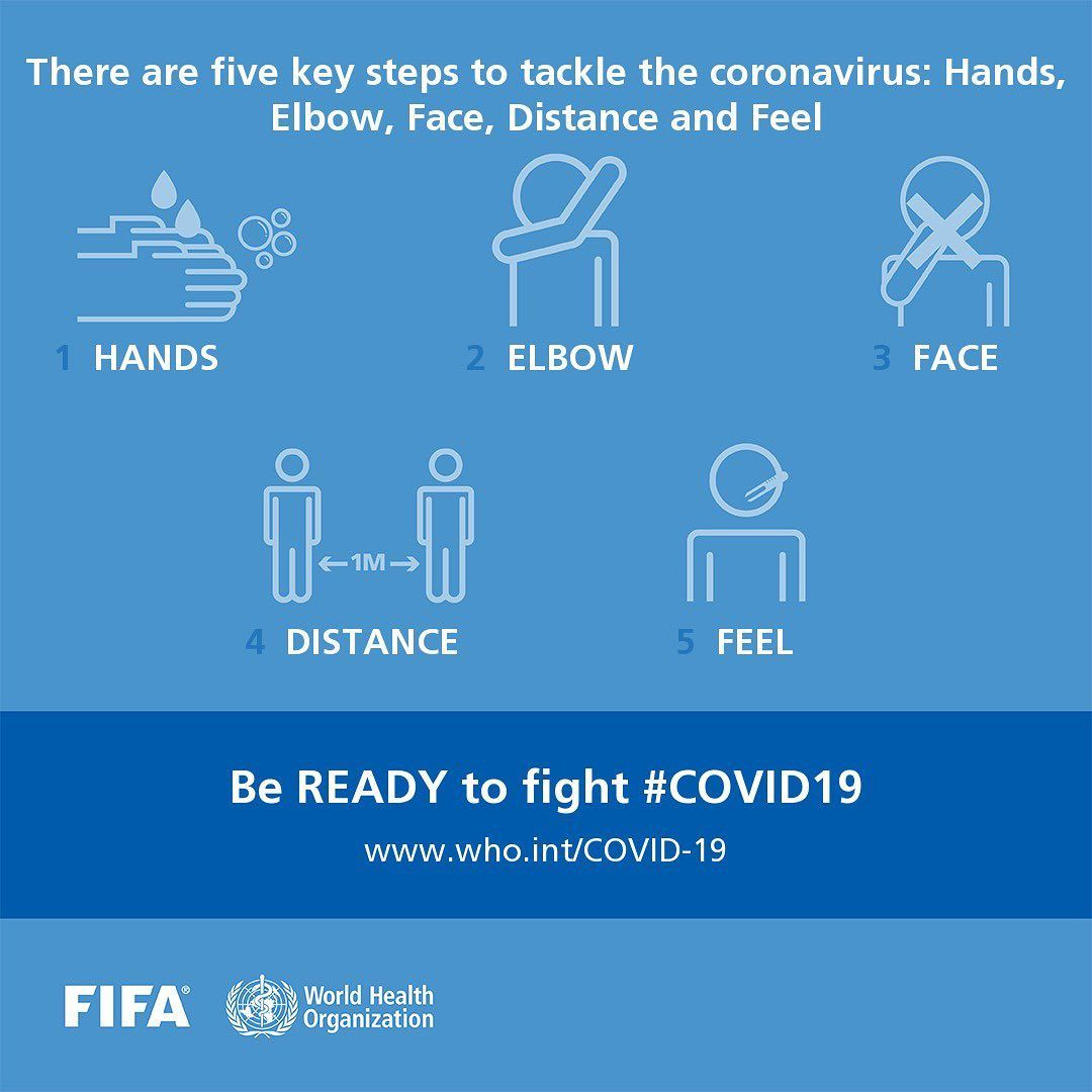 "World Health Organization on Instagram: ""Pass the message: These are 5️⃣ steps to kicking out #coronavirus: 👐 #HandWashing 🤧 Coughing etiquette (cover your cough with flexed elbow…"" 7584b9cc8b1f0d477c86f9cb6a7370c5"