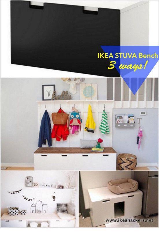 Ikea hack stuva  IKEA STUVA Bench 3 Ways | IKEA Hackers | IKEA Hacks | Pinterest ...