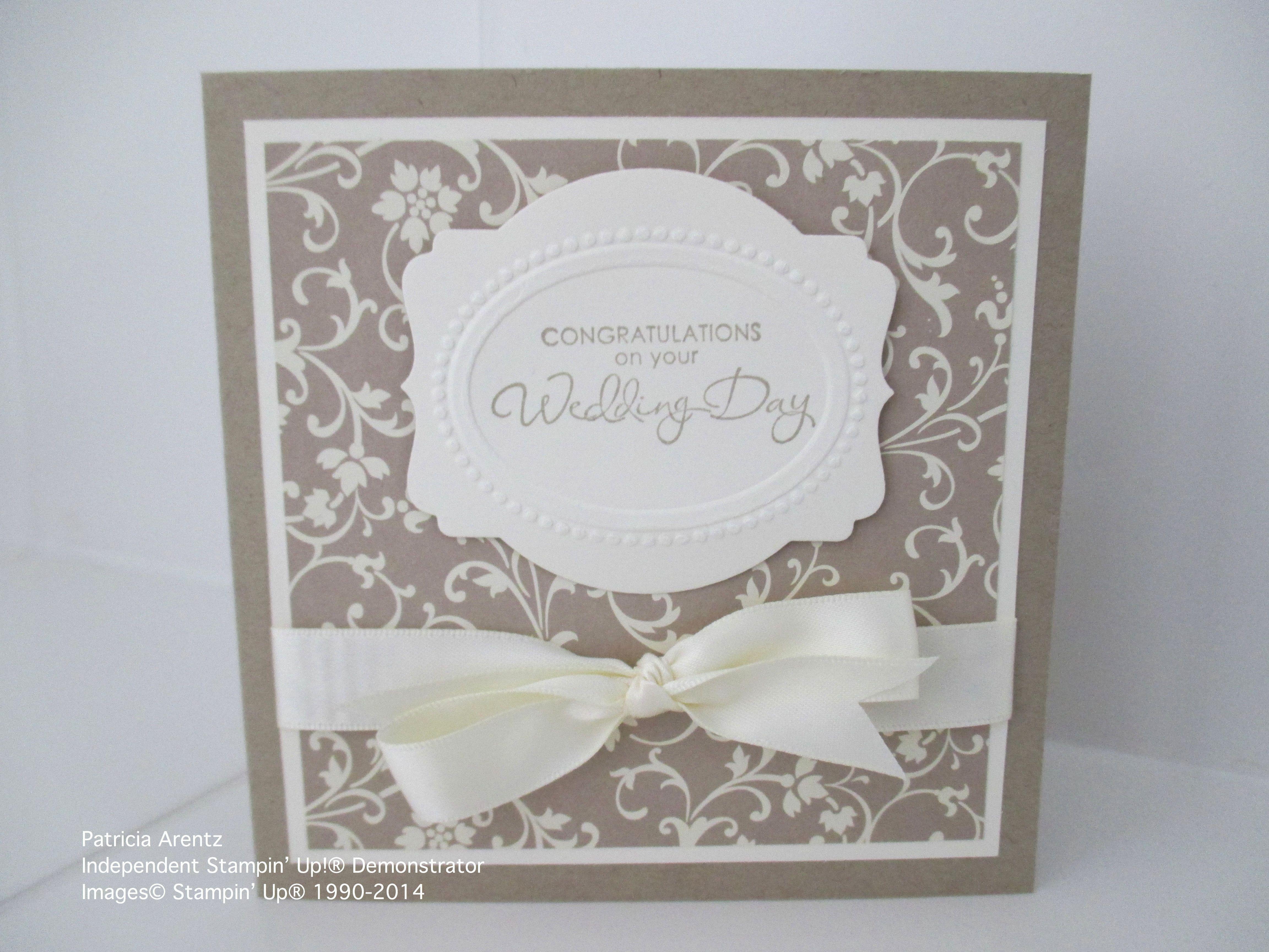 Wedding Card Using Stampin Up Bella Bleu Dsp Deco Labels